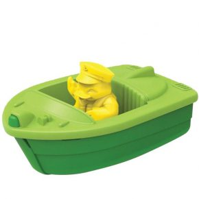 Green toy speed boat groen