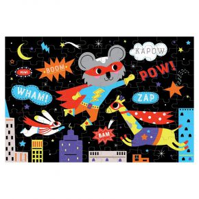 BT glow in dark puzzel superhero