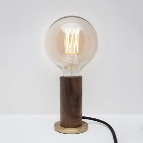 Tala touch lamp walnoot brass