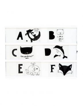 ALLC lightbox ABC Kids set zwart
