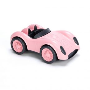 Green toy race car roze