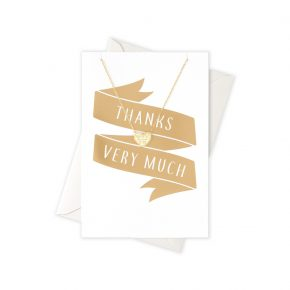 OR ketting Thanks heart card