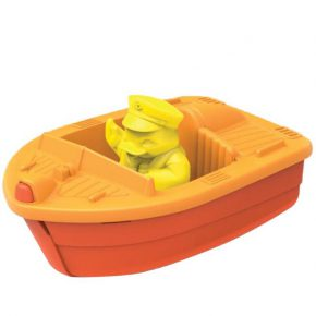 Green toy race boat oranje