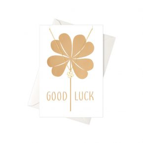 OR ketting Good Luck clover card