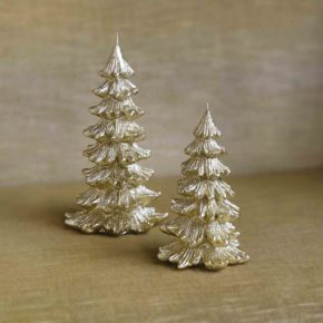 &k candle Christmas tree gold L