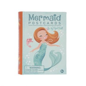BT set mermaid postcards