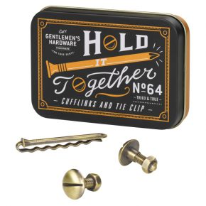 WW man cufflink & tie pin set
