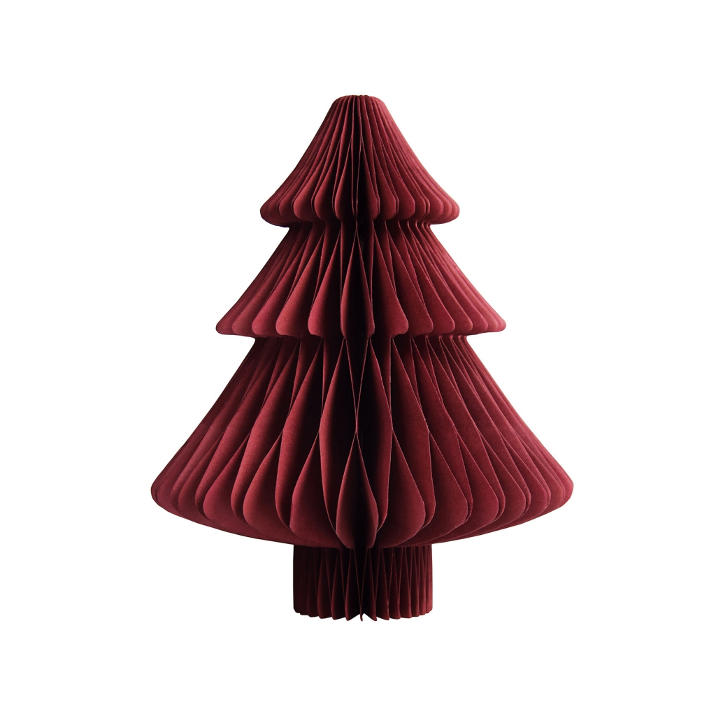 &k christmas tree paper S red