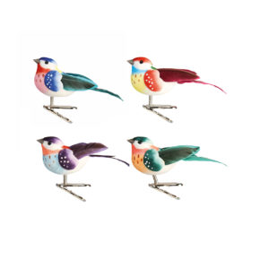 &k coloured birds on clip