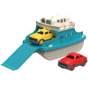 Green toy pont met auto's