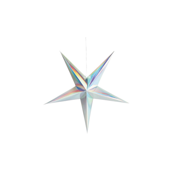 &k Paper star holographic 60cm