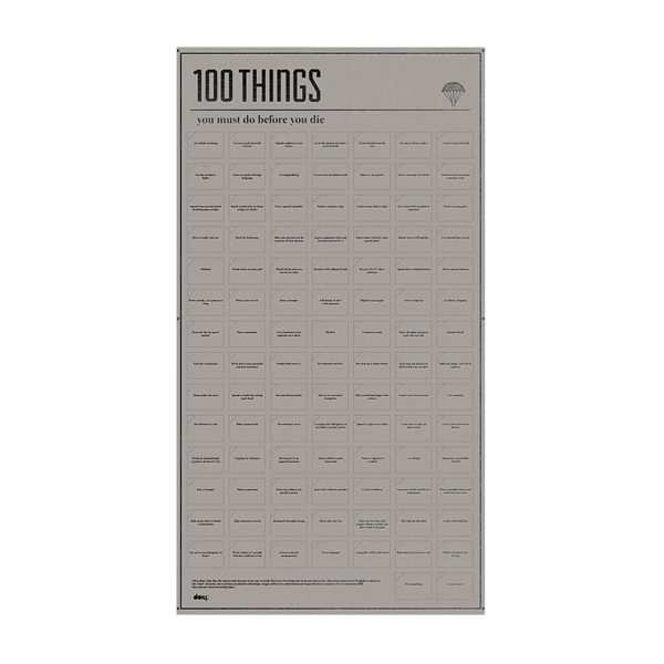 DOIY 100 things poster
