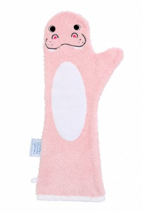 Baby shower glove Bever roze