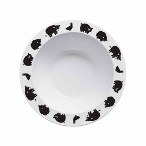 B&B bowl animals zwart