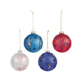 &k set 4 cosmic colour ornaments