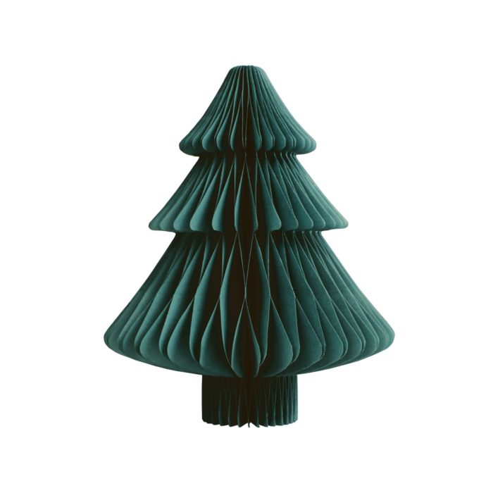 &k christmas tree paper S green