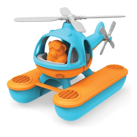 Green toy seacopter blauw
