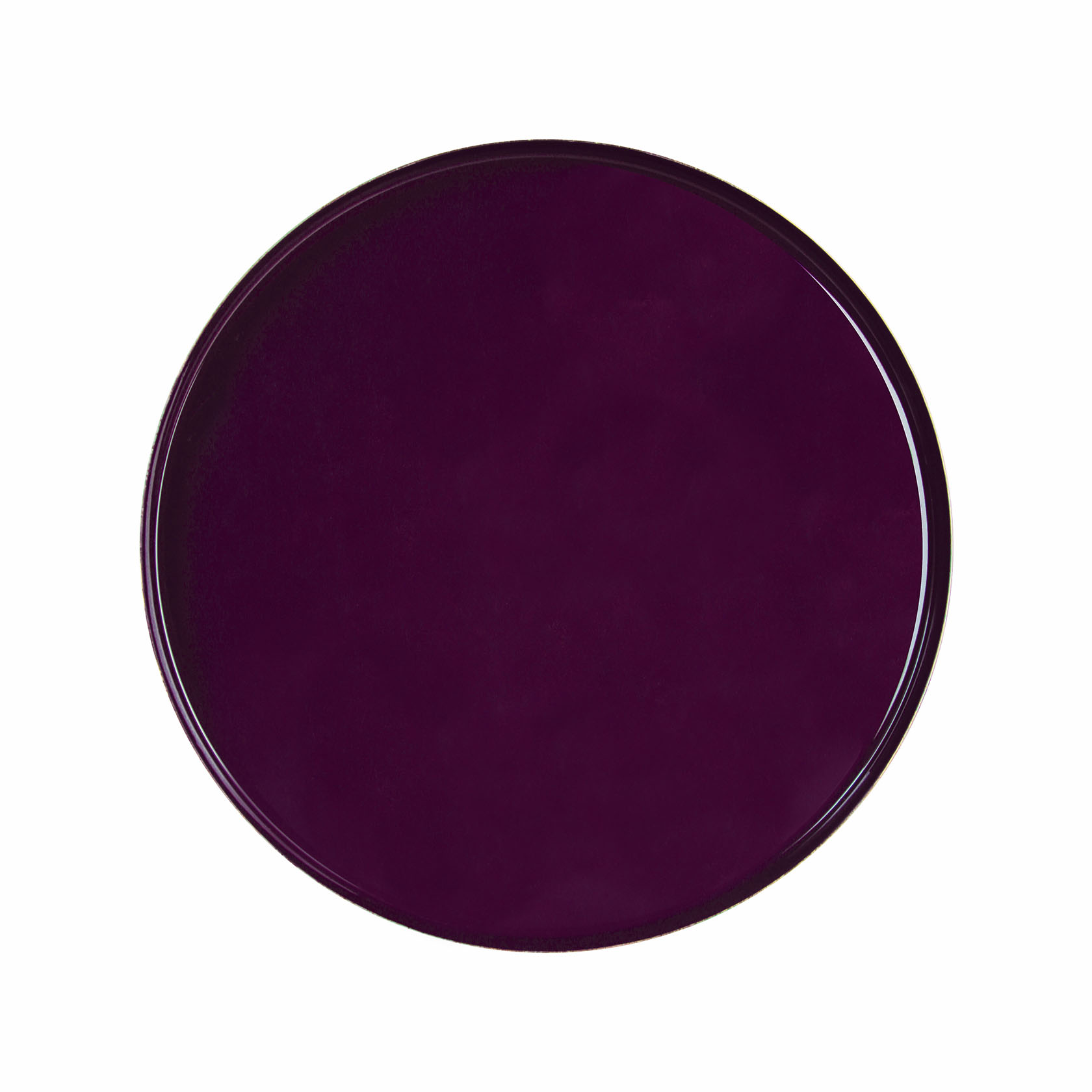 &k tray round metal purple 36cm