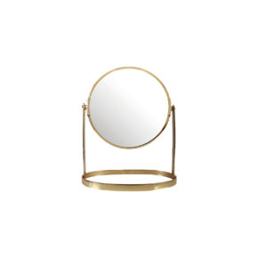 &k mirror on stand gold small
