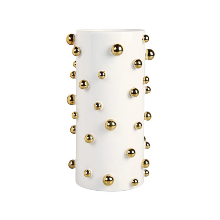 &k vaas white dotted gold