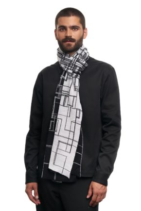 TV shawl l.grijs binary