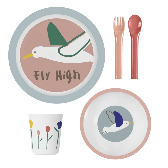 SB melamine set vogel