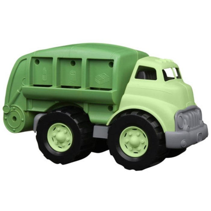 Green toy recycling truck