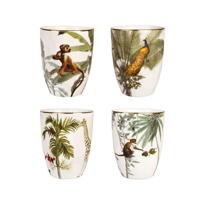 &k Jungle beker set 4