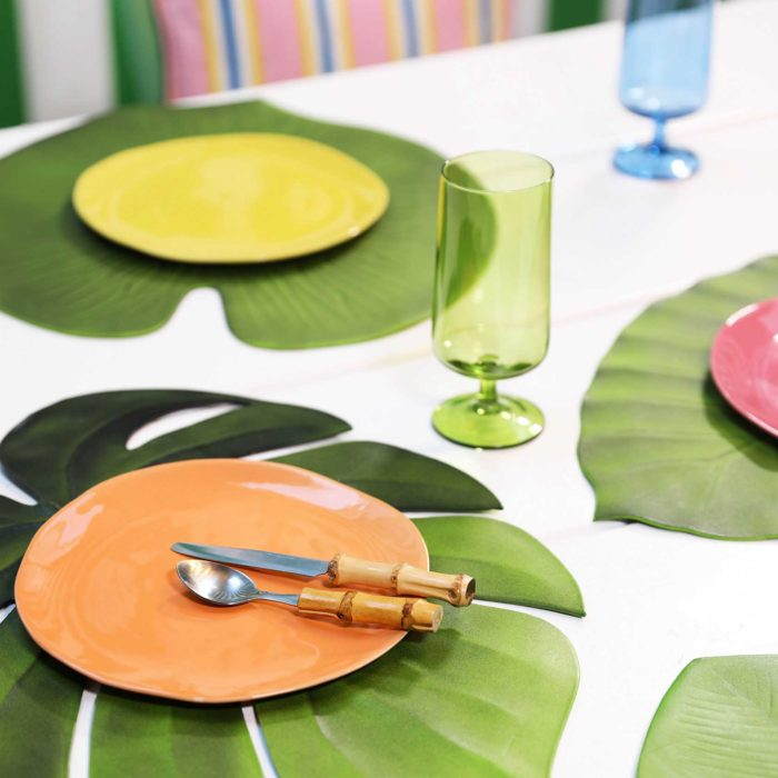 &k set 4 placemat leaf
