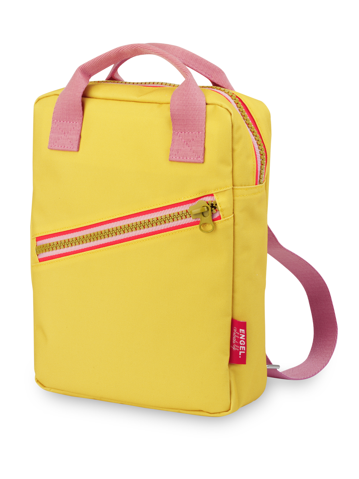 Engel rugzak small zipper Yellow
