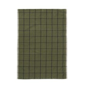 FERM theedoek linen green black