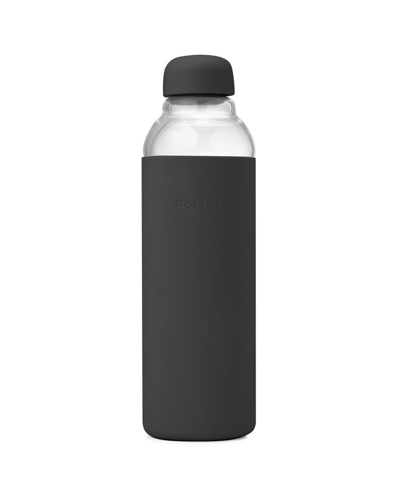 W&P water bottle charcoal glass