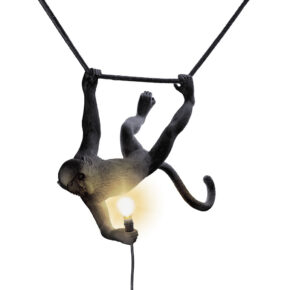 ST lamp Monkey swing zwart